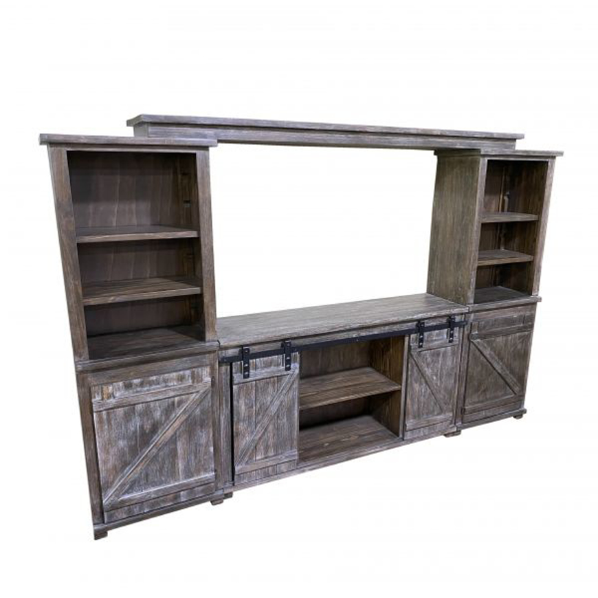 Picture of RUSTIC BRAXTON 4 PC WALL UNIT - WO480