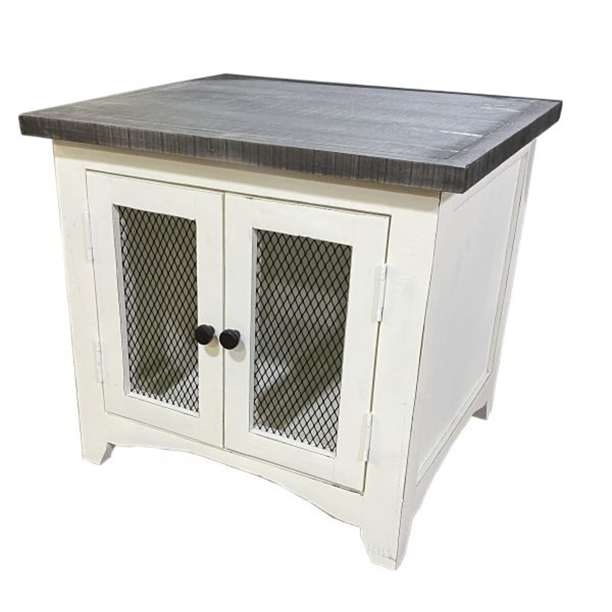 Picture of RUSTIC WIRE DOOR END TABLE