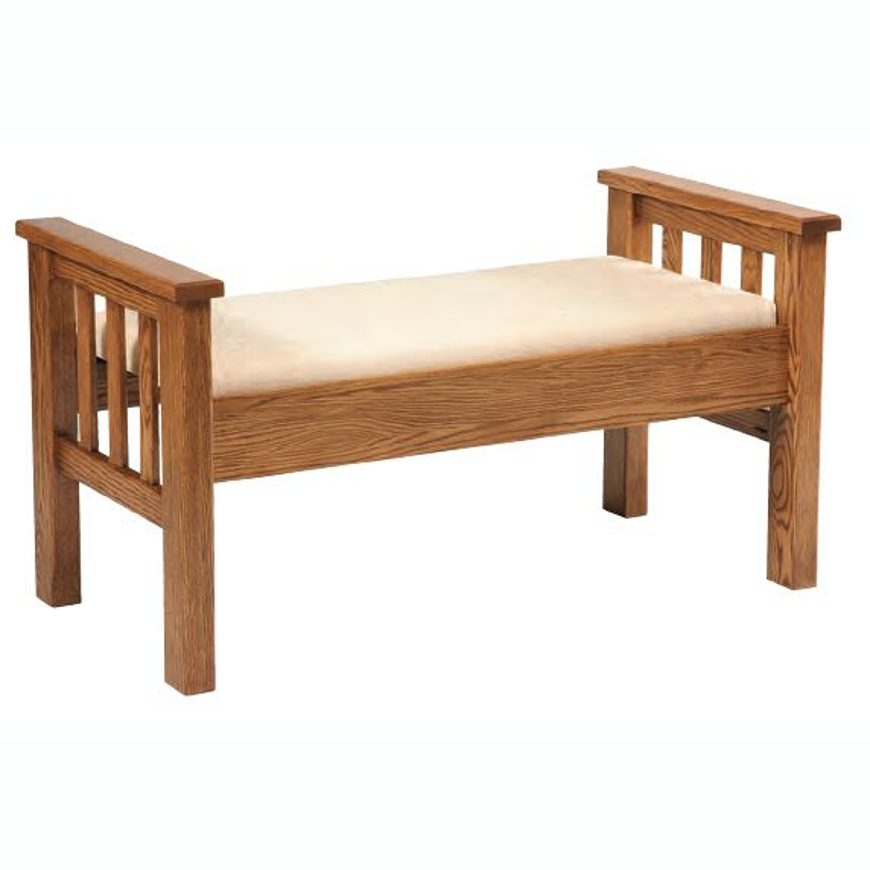 Picture of Amish Wide Slat Footboard Bench